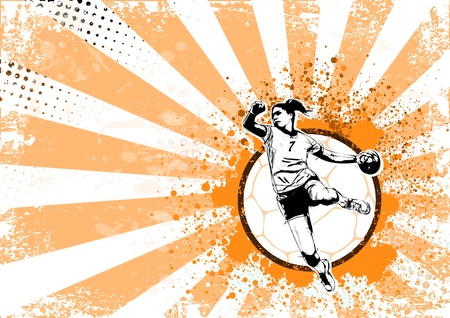 illustration of handball player Vector