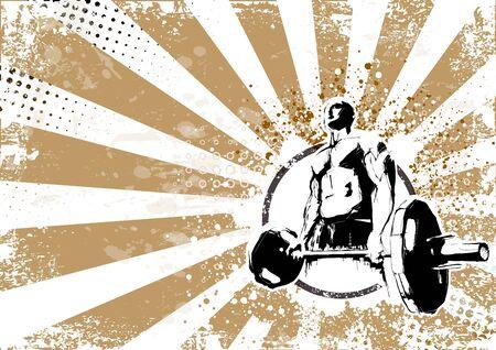 levantamiento de pesas: ilustraci�n del culturista Vectores