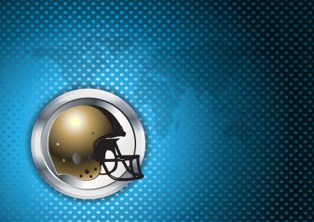 teammate: american football helmet in the chrome ring
