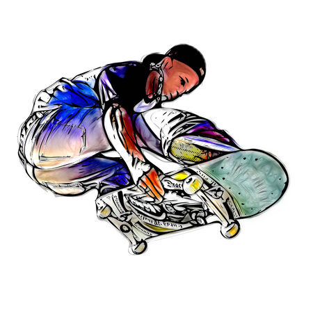 illustration of jumping skateboarder illustration