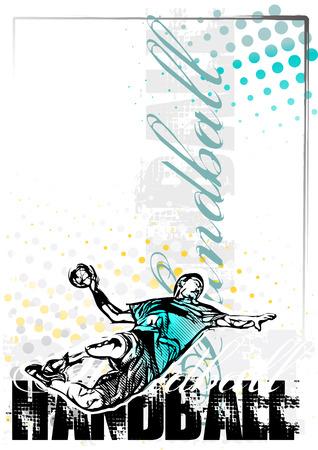 handbal poster achtergrond