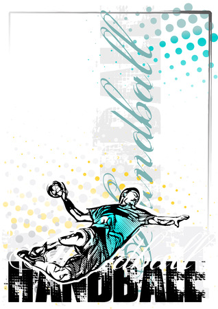 terrain de handball: handball affiche fond Illustration