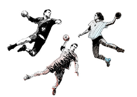 handball trio