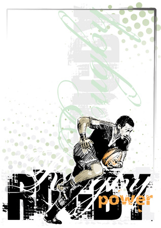 rugby player: rugby poster background Illustration