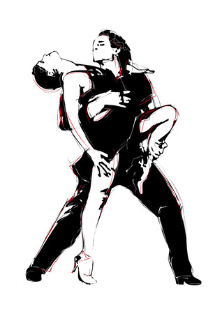 salsa dancer: latino dance illustration