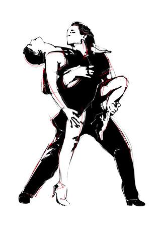 ispanico: Latino Dance illustrazione Vettoriali