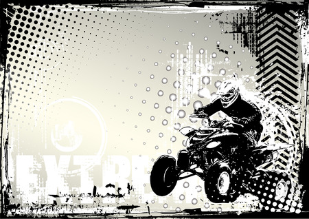 quad bike poster background