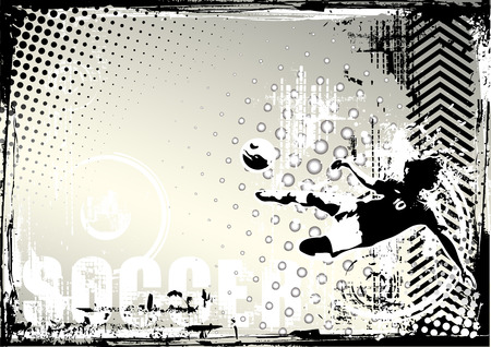 sporting event: soccer poster background Illustration