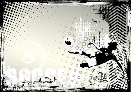 voetbal poster achtergrond Stock Illustratie