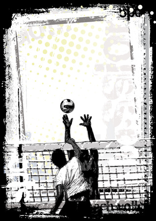 volleyball poster background  イラスト・ベクター素材