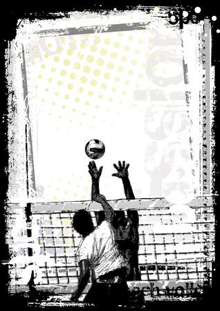 volleybal poster achtergrond