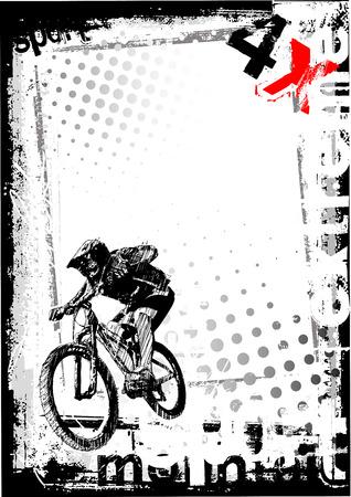 bmx freestyle poster achtergrond Stock Illustratie