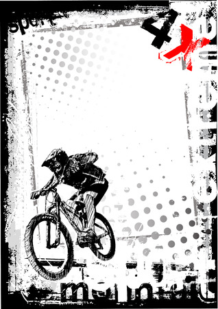 bmx freestyle poster background Vector