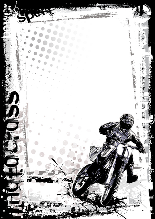 road bike: motocross poster background