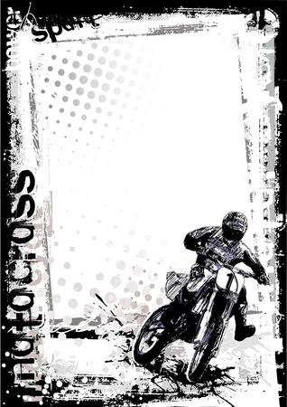 Motor cross poster achtergrond Vector Illustratie