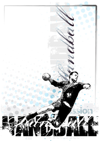 handball vector poster background