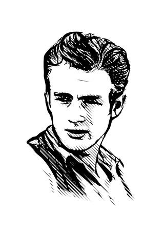 james dean vector illustration Illustration