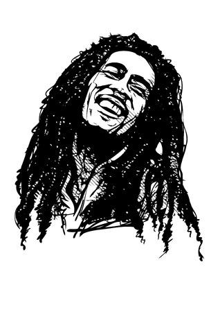 bob marley vector illustration