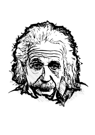 albert einstein vector illustration Çizim