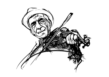 fiddler vector illustration