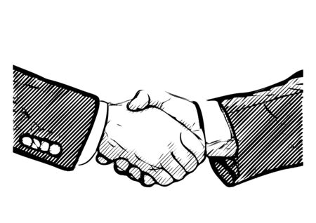 business deal: business deal vector illustration