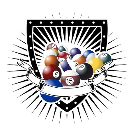 international pool shield Illusztráció