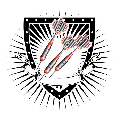 darts: darts shield Illustration
