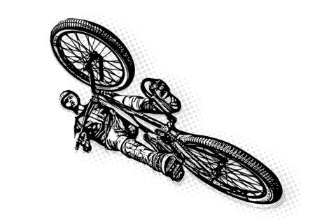 BMX biker Illustration on white illustration