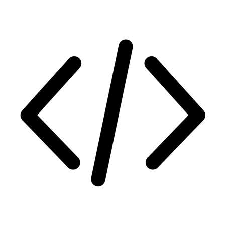 Html coding  Bold outline Vector icon which can easily modify or edit
