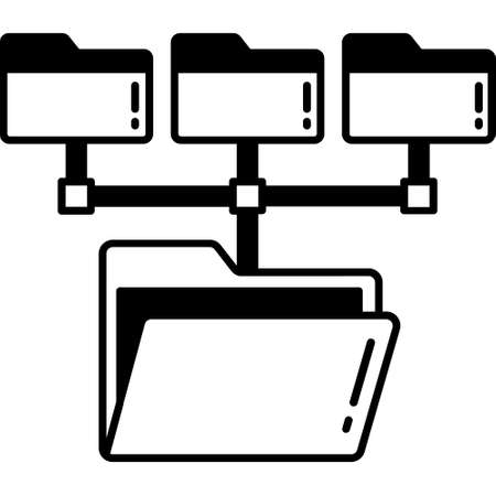 Database Database Glyph Black color Vector icon which can easily modify or edit