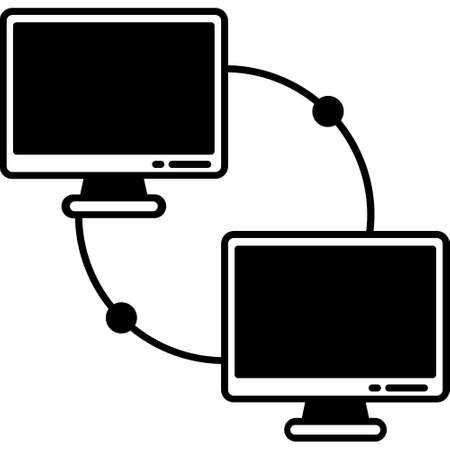 Computer network Glyph Black color Vector icon which can easily modify or edit