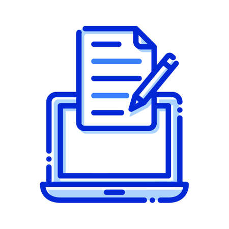 Copywriting, Laptop, page, pencil fully editable vector icons