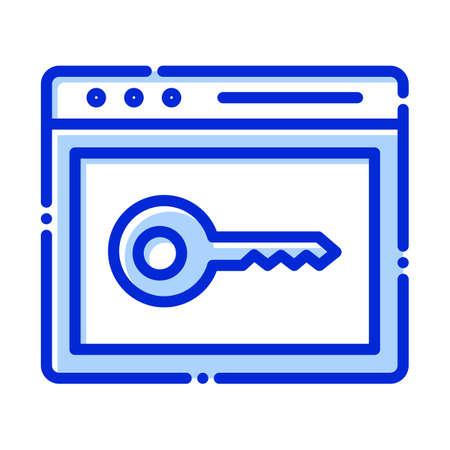 Keyword, keyword searching fully editable vector icons  イラスト・ベクター素材
