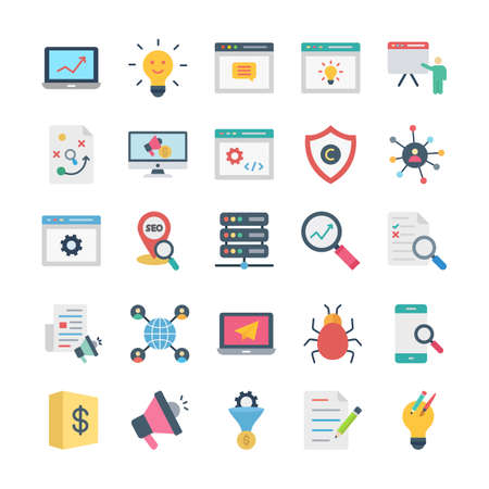 Web and SEO Vector icons set every single icon can easily modify or edit