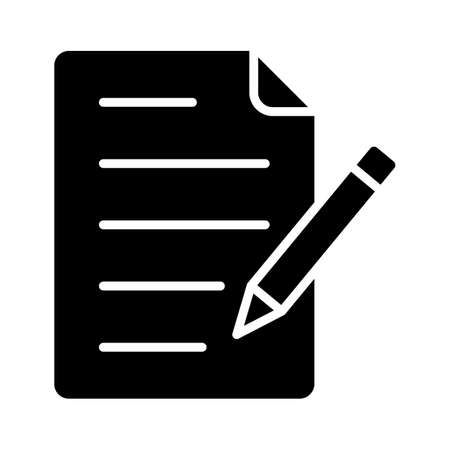 Copywriting, content writing, content, document fully editable vector icons