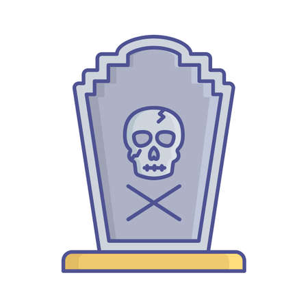 Funeral fill inside vector icon which can easily modify or edit