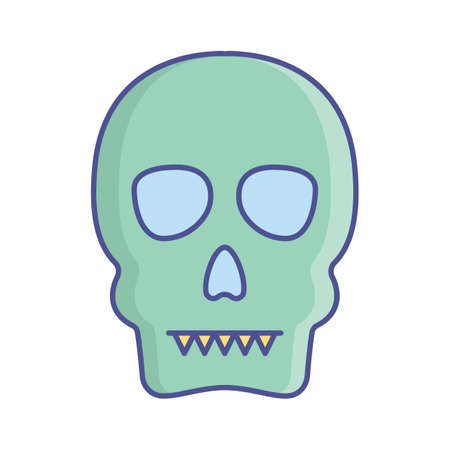 Dead head fill inside vector icon which can easily modify or edit