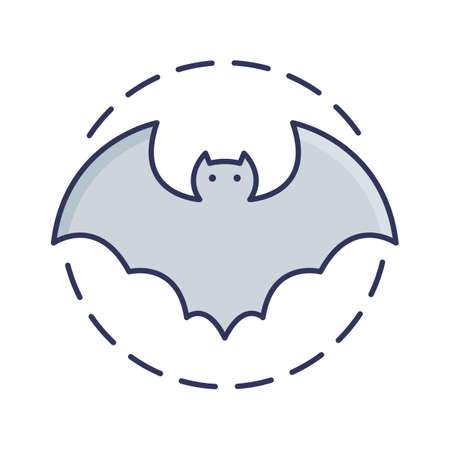 vampire bat fill inside vector icon which can easily modify or edit Vettoriali