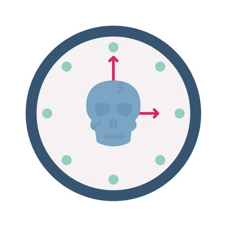 Time machine flat vector icon which can easily modify or edit 일러스트