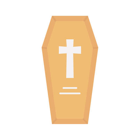 Death funeral flat vector icon which can easily modify or edit