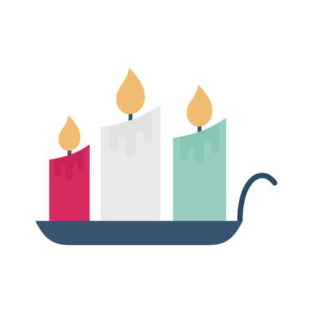 Magic candles flat vector icon which can easily modify or edit
