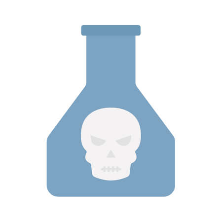 Dangerous poison flat vector icon which can easily modify or edit 일러스트