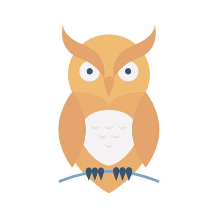 Evil owl flat vector icon which can easily modify or edit