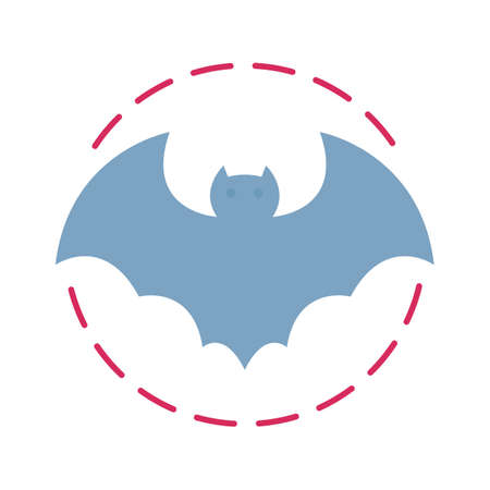 vampire bat flat vector icon which can easily modify or edit