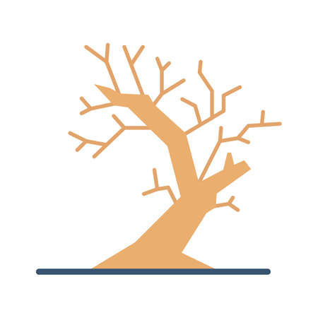 Spooky tree flat vector icon which can easily modify or edit