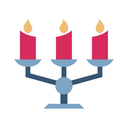 Decorative candle flat vector icon which can easily modify or edit