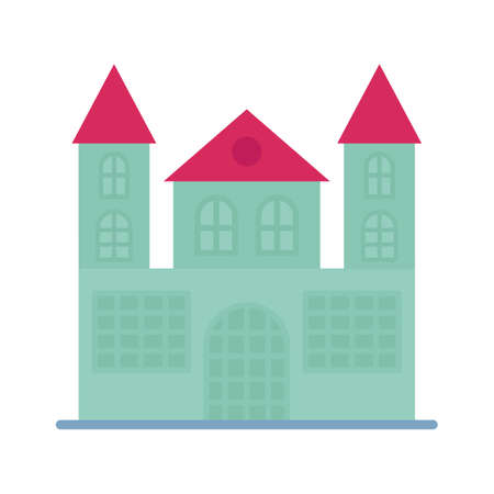 Horror house flat vector icon which can easily modify or edit 일러스트