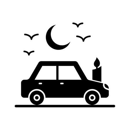 Spooky bat flat vector icon which can easily modify or edit