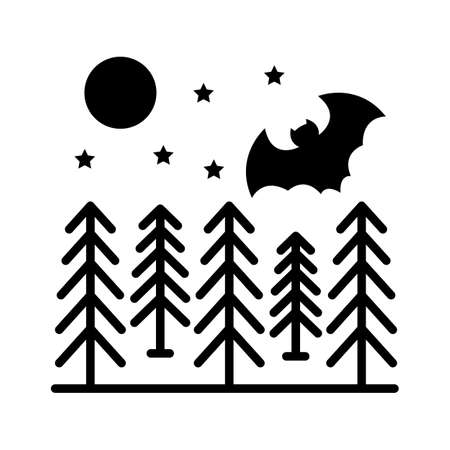 Spooky bat  flat vector icon which can easily modify or edit 일러스트