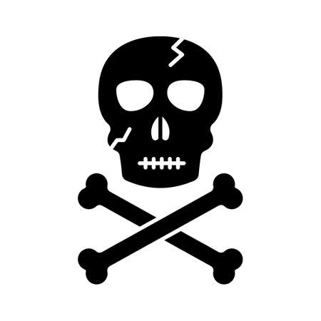 Dead head flat vector icon which can easily modify or edit